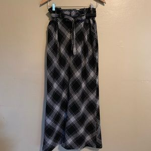 Old Navy | Wool Blend Plaid Maxi Skirt | 8
